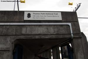 The start of the Thames Path