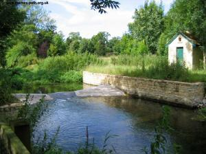A small weir near Ewen