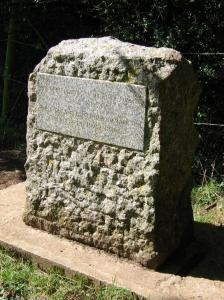 The stone that marks the source