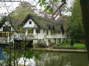 Thatched boat house at Goring
