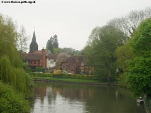 The view of Whitchurch from the bridge